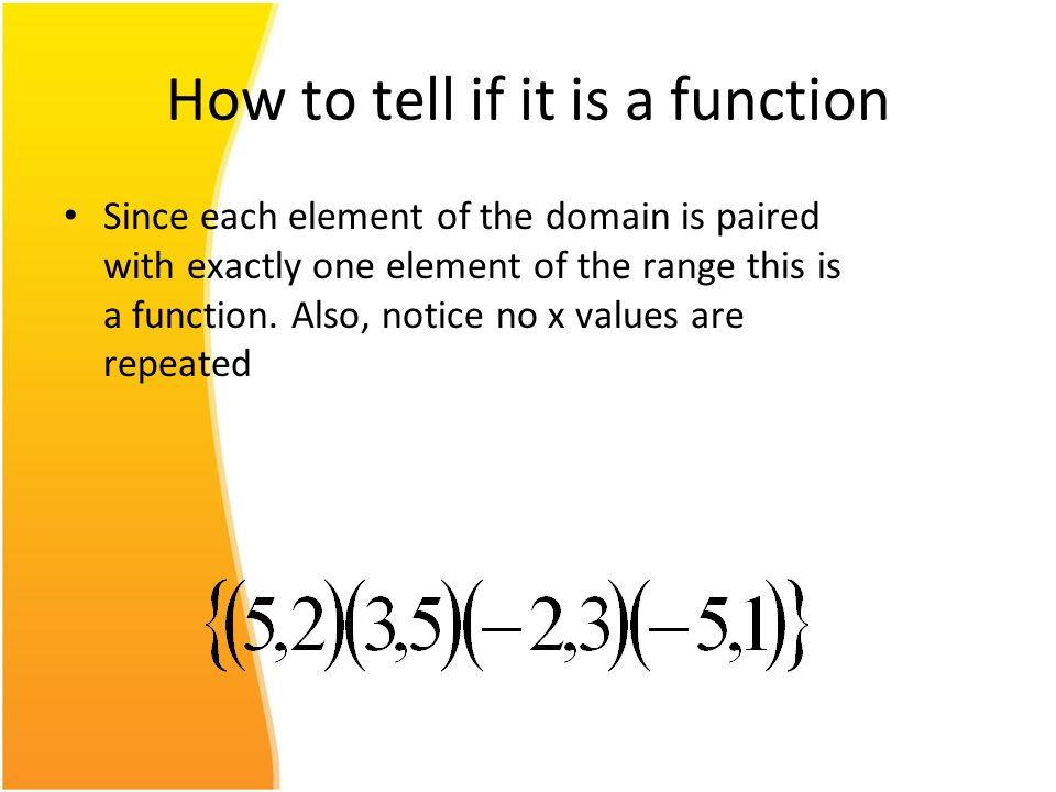 How to tell if it is a function