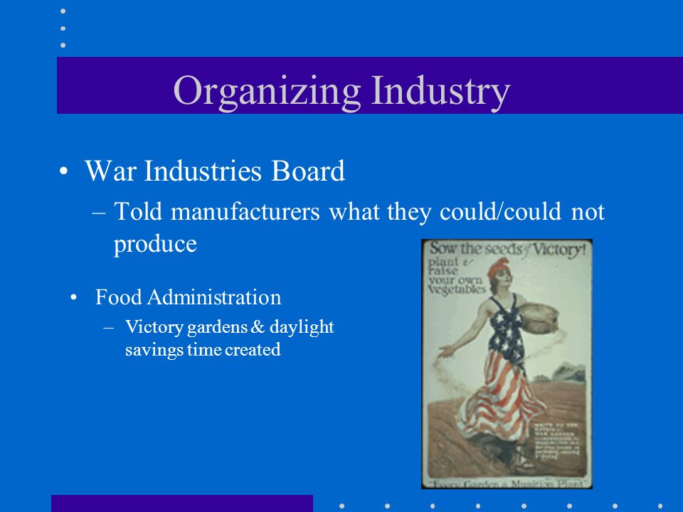 Organizing Industry War Industries Board