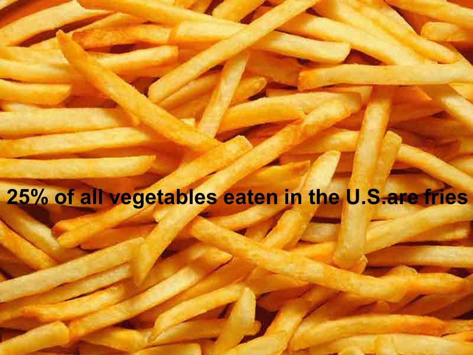 25% of all vegetables eaten in the U.S.are fries