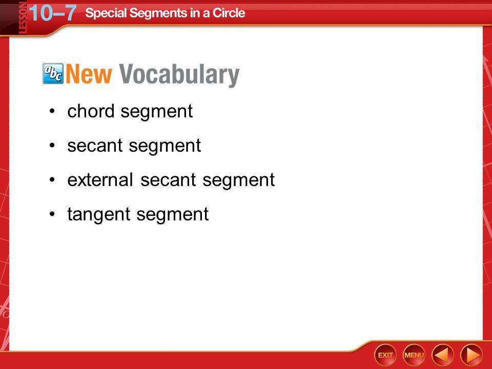 external secant segment tangent segment