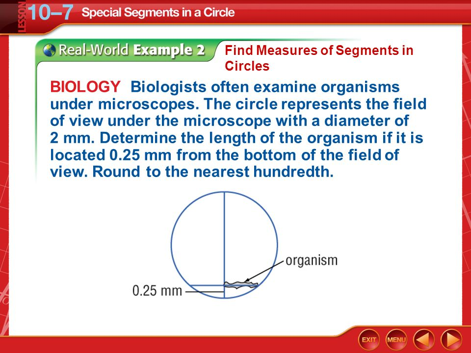 Find Measures of Segments in Circles