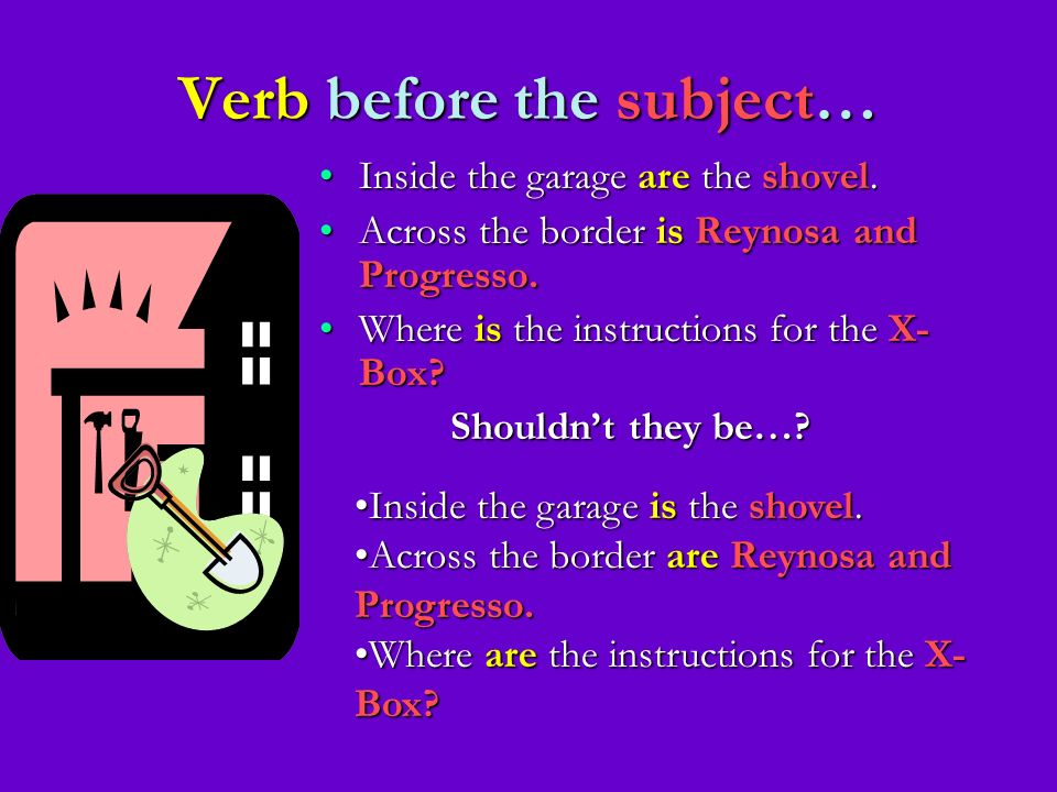 Verb before the subject…