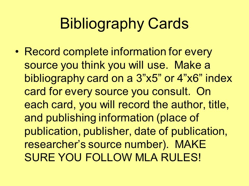 bibliography card paper research write How to write a bibliography for a research paper this will help your students understand how to properly cite different resources in their research papers.