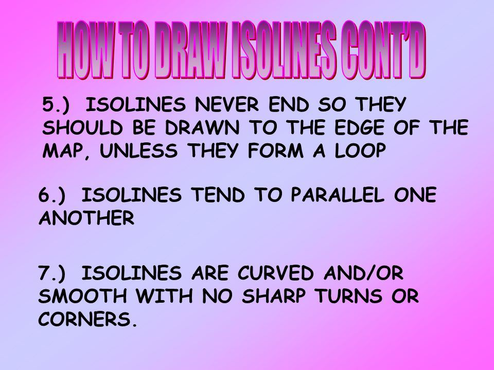 HOW TO DRAW ISOLINES CONT'D