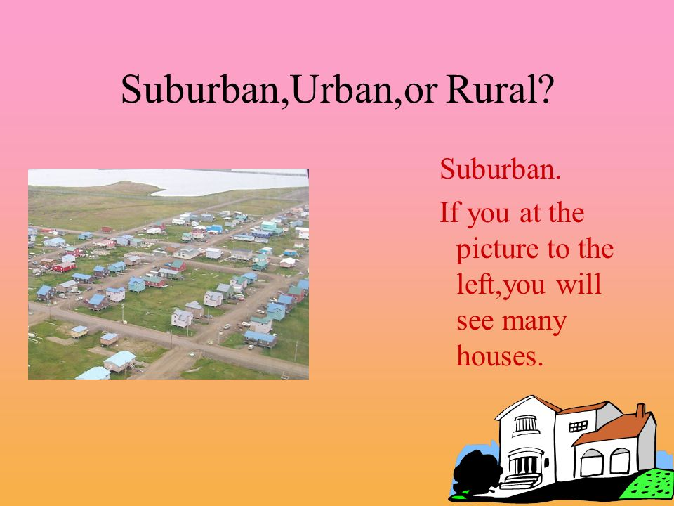 Suburban,Urban,or Rural