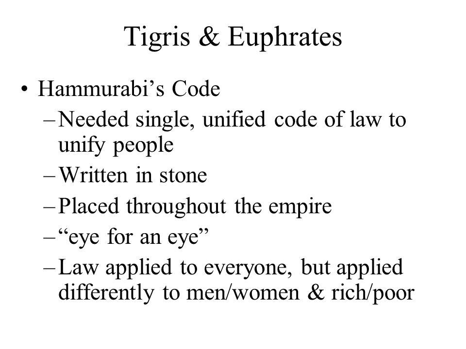Tigris & Euphrates Hammurabi's Code