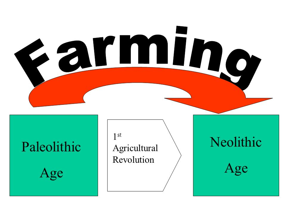 Farming 1st Agricultural Revolution Neolithic Age Paleolithic Age
