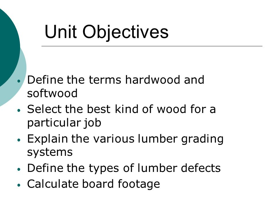 Softwood Lumber Grades ~ Selecting and identifying materials ppt video online