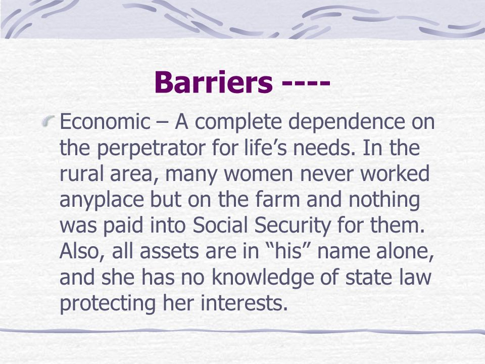 Barriers ----