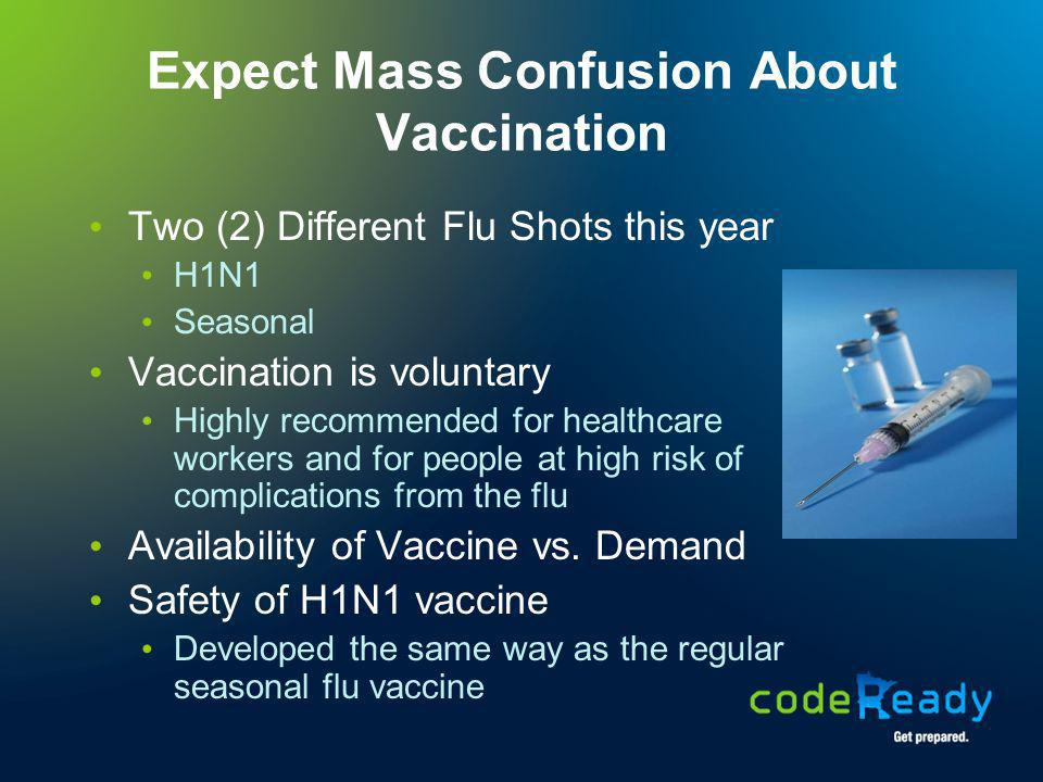 Expect Mass Confusion About Vaccination
