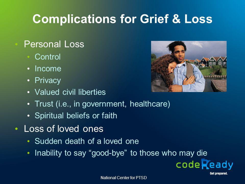 Complications for Grief & Loss