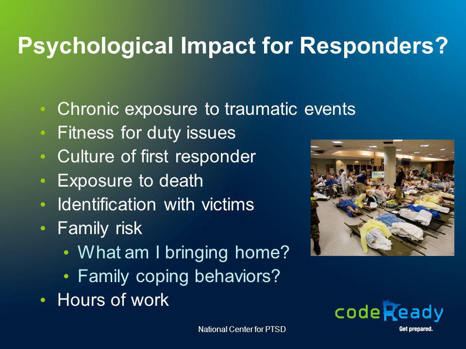 Psychological Impact for Responders