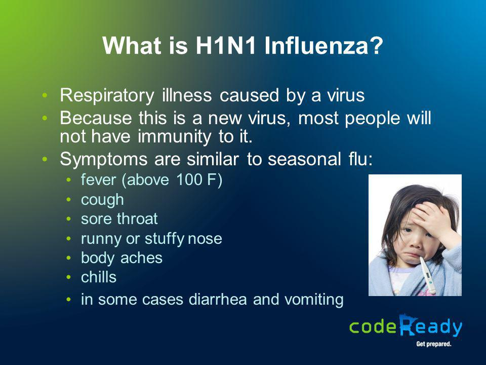 What is H1N1 Influenza Respiratory illness caused by a virus