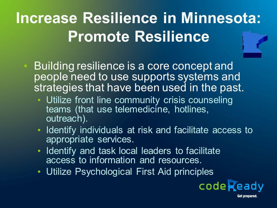 Increase Resilience in Minnesota: Promote Resilience