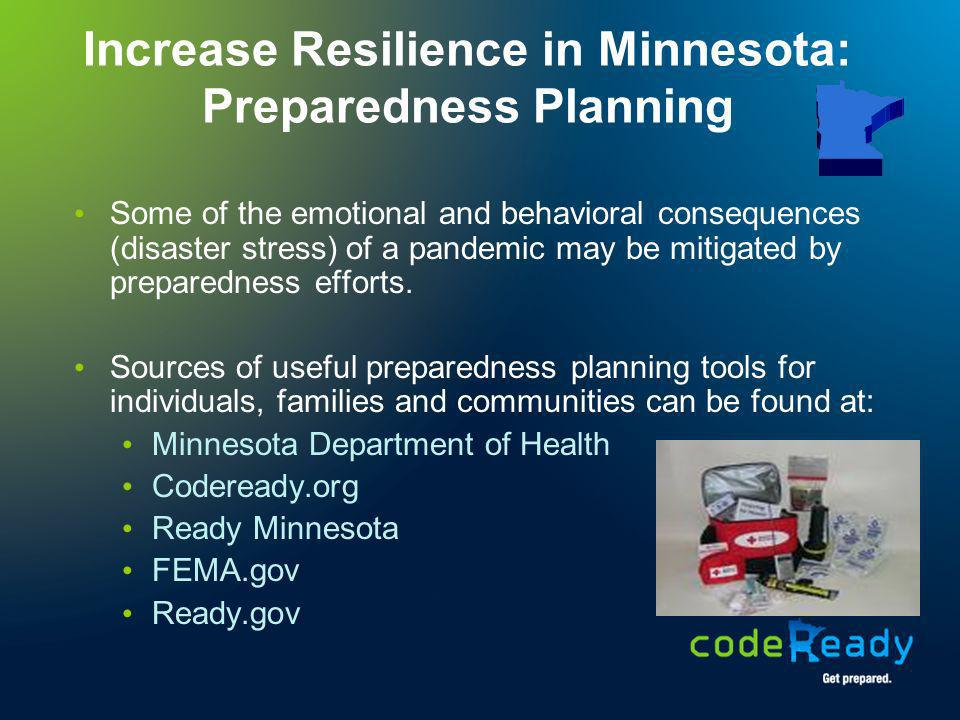Increase Resilience in Minnesota: Preparedness Planning
