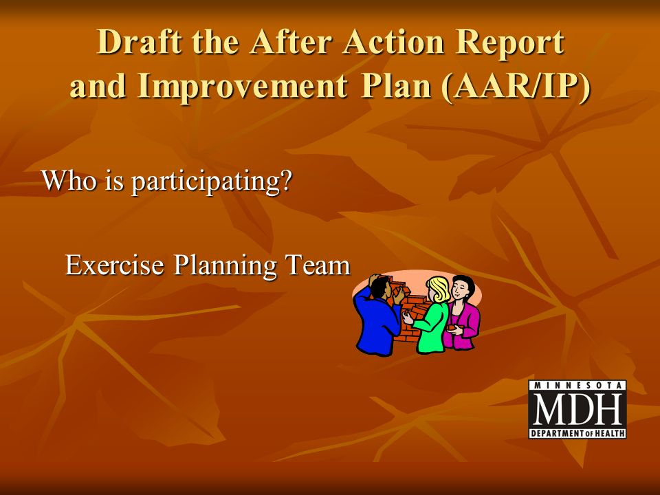 Draft the After Action Report and Improvement Plan (AAR/IP)