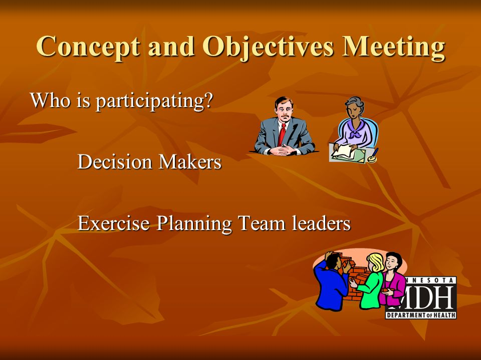Concept and Objectives Meeting