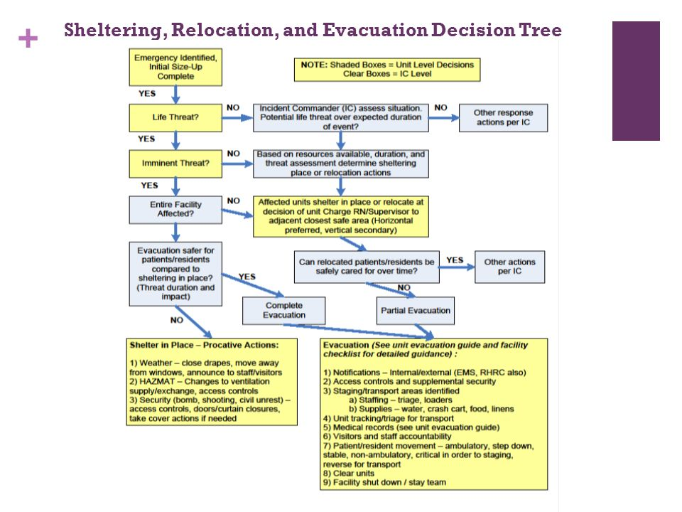 Sheltering, Relocation, and Evacuation Decision Tree