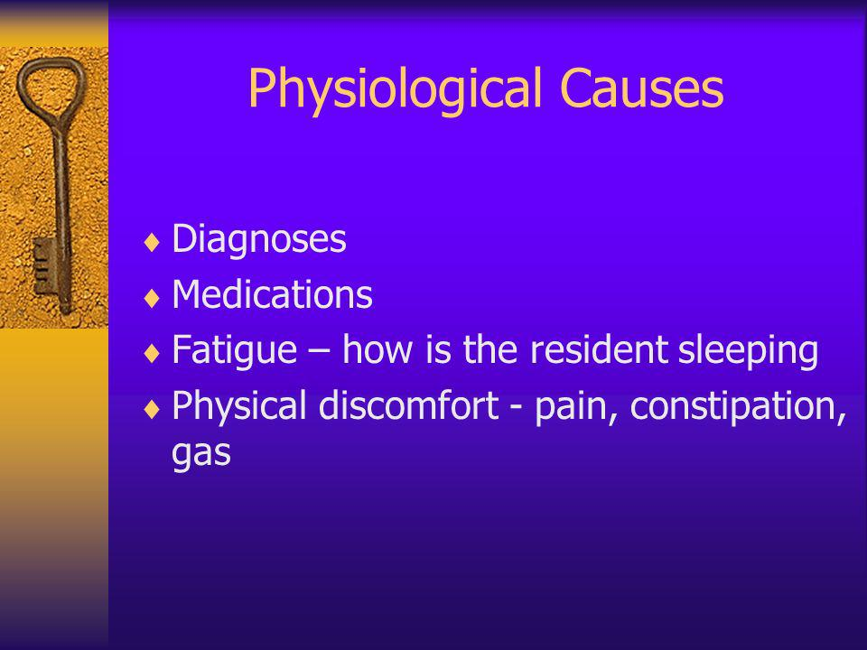 Physiological Causes Diagnoses Medications