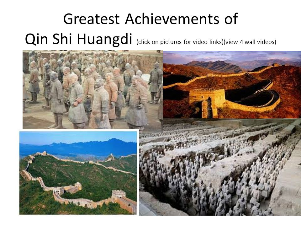 22 Greatest Achievements Of Qin Shi Huangdi Click On Pictures For Video Linksview 4 Wall Videos