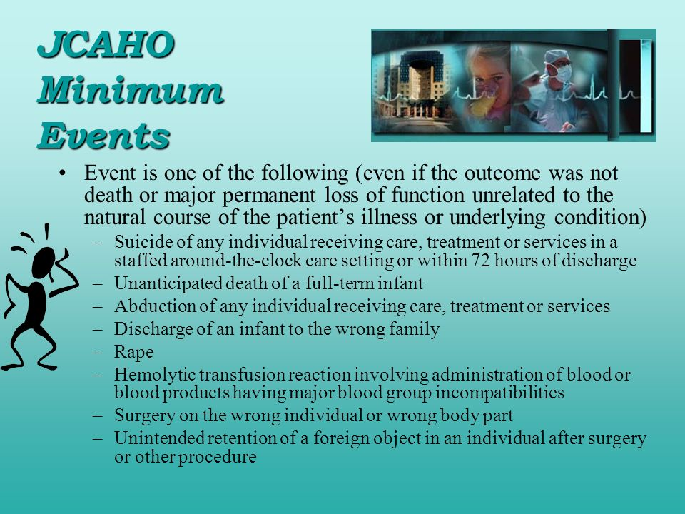 JCAHO Minimum Events