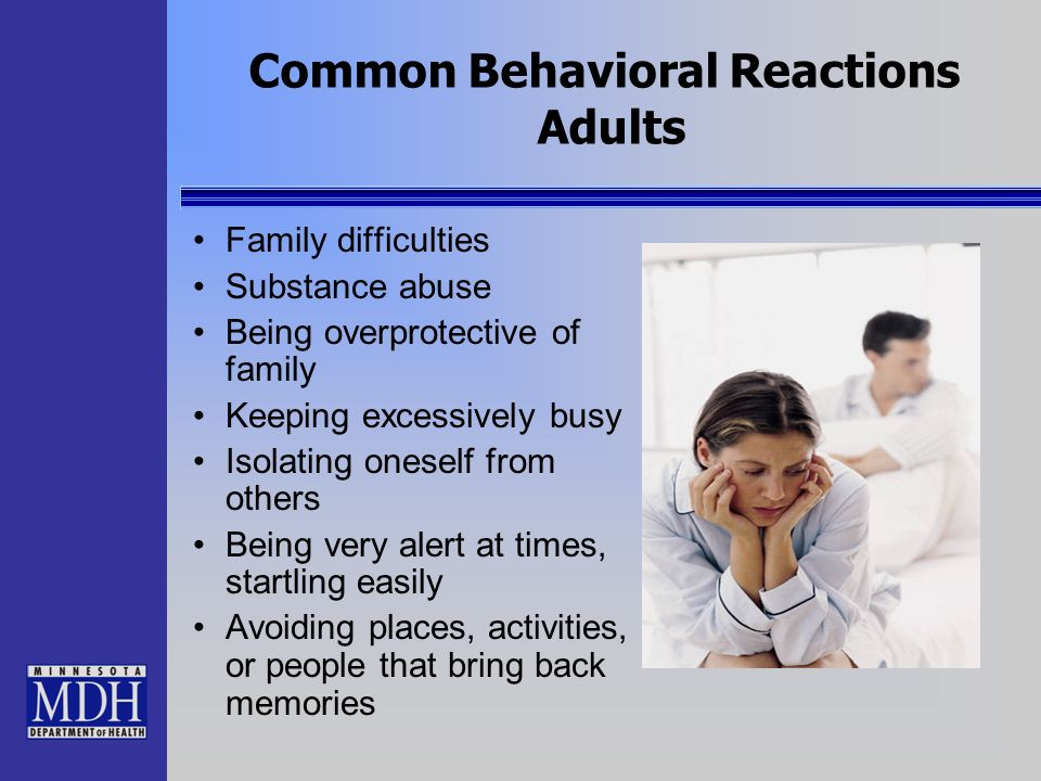 Common Behavioral Reactions Adults