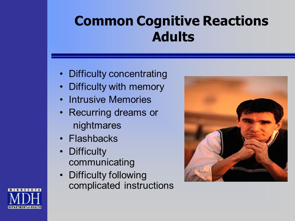Common Cognitive Reactions Adults
