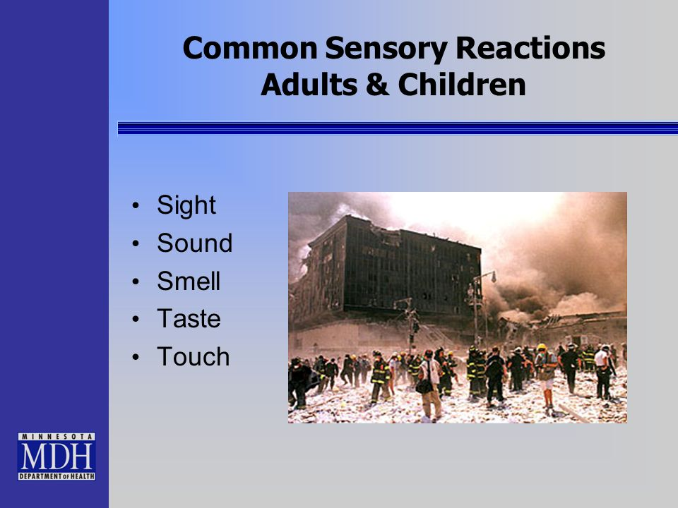 Common Sensory Reactions Adults & Children