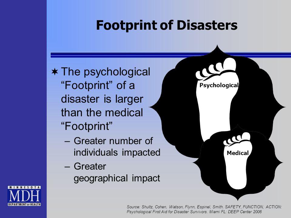 Footprint of Disasters