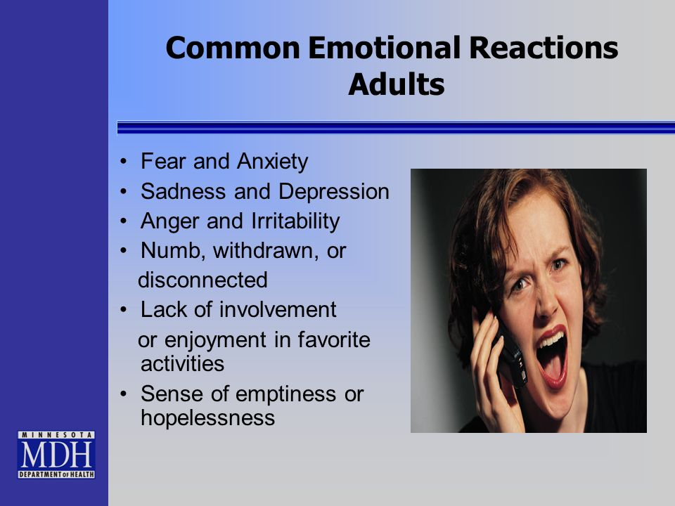Common Emotional Reactions Adults