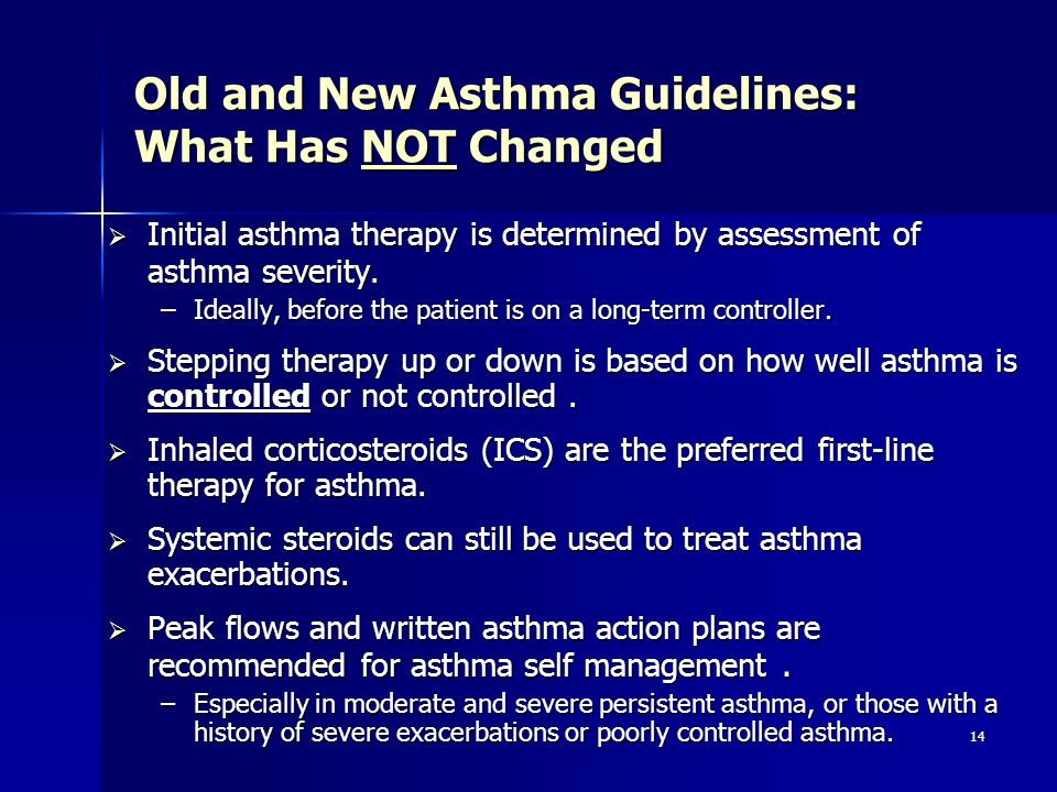 Old and New Asthma Guidelines: What Has NOT Changed
