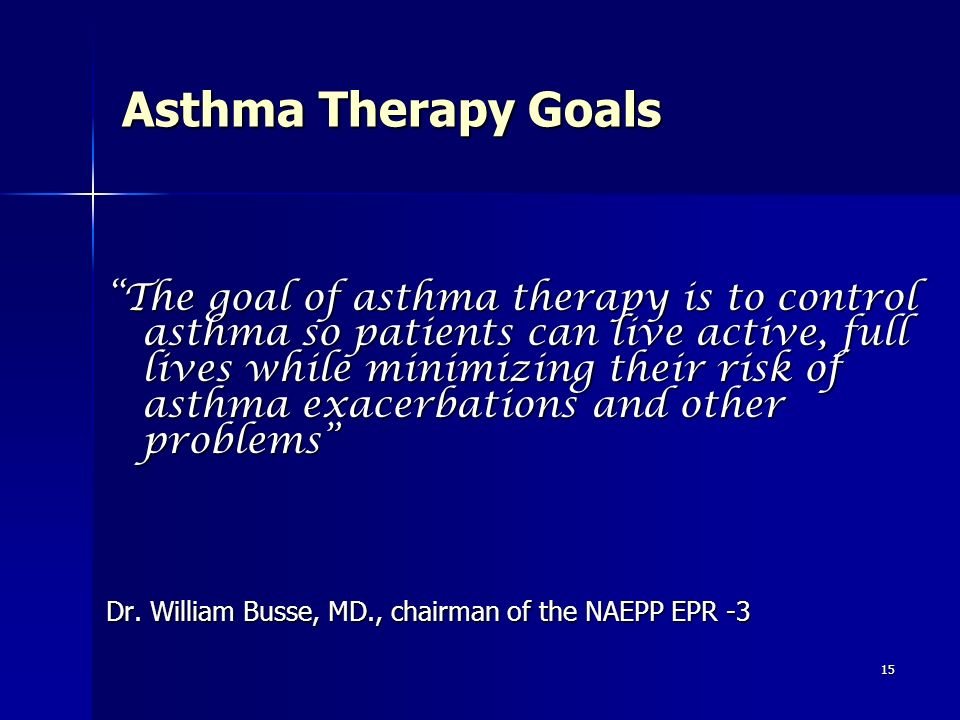 Asthma Therapy Goals