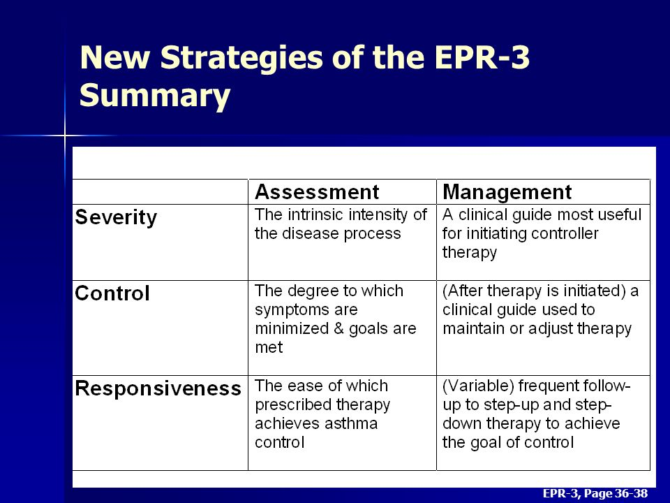 New Strategies of the EPR-3 Summary