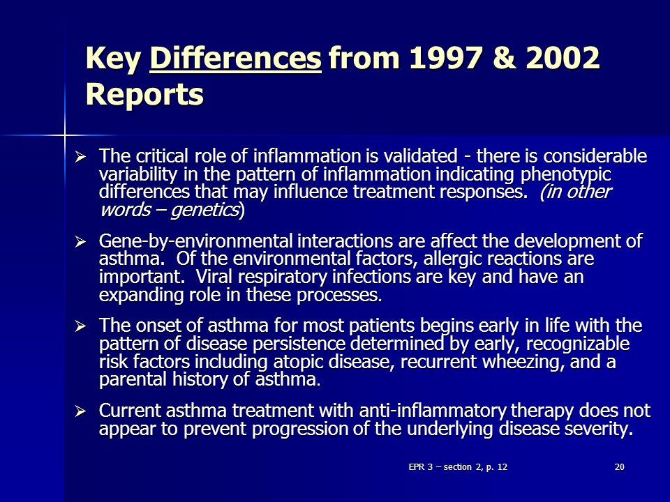 Key Differences from 1997 & 2002 Reports