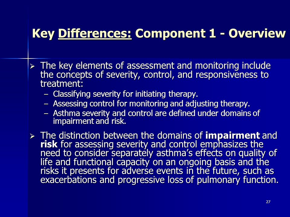 Key Differences: Component 1 - Overview