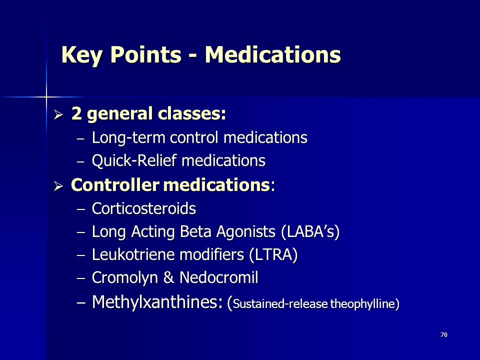 Key Points - Medications
