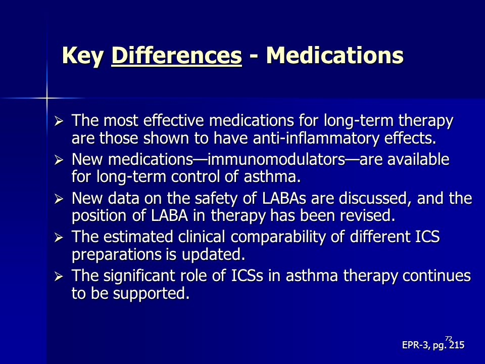 Key Differences - Medications