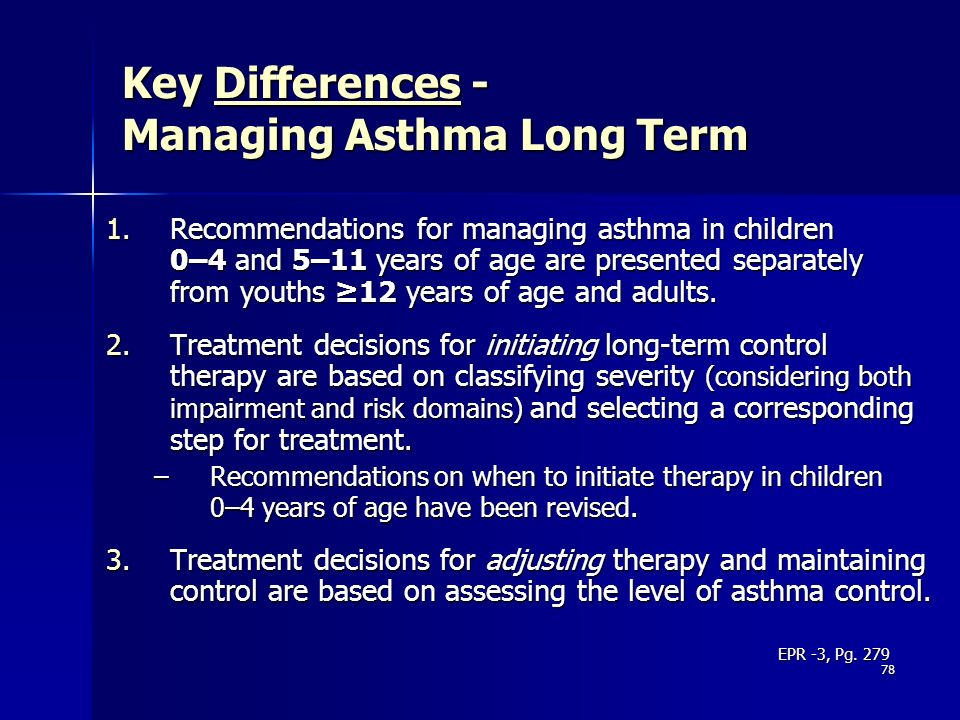 Key Differences - Managing Asthma Long Term