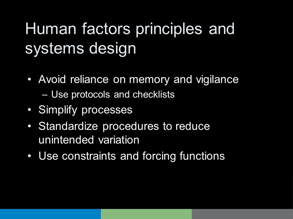 Human factors principles and systems design