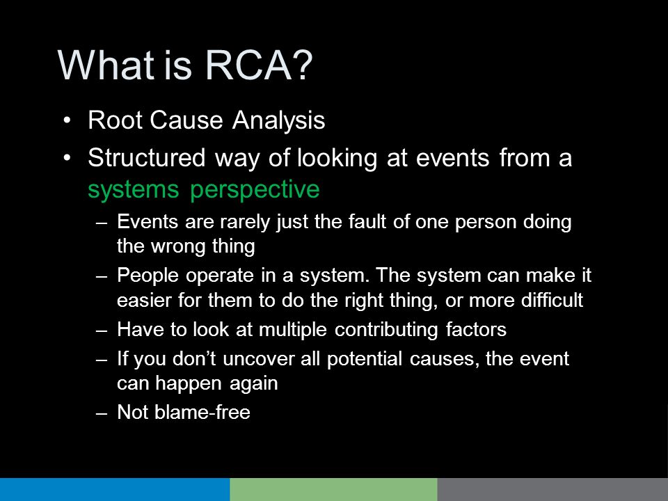 What is RCA Root Cause Analysis