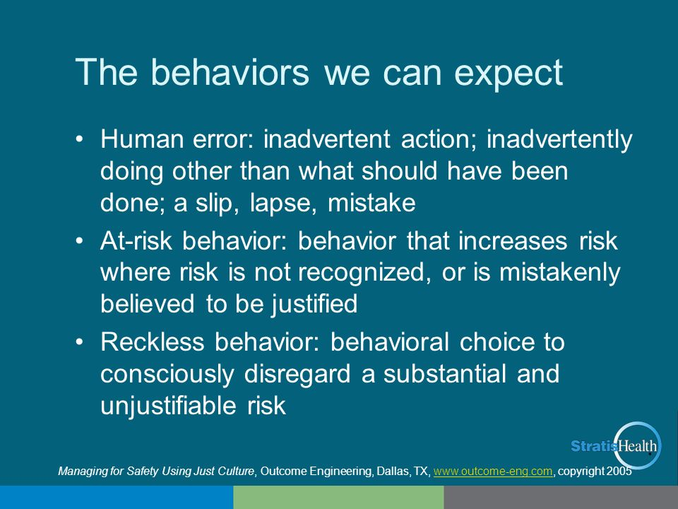The behaviors we can expect