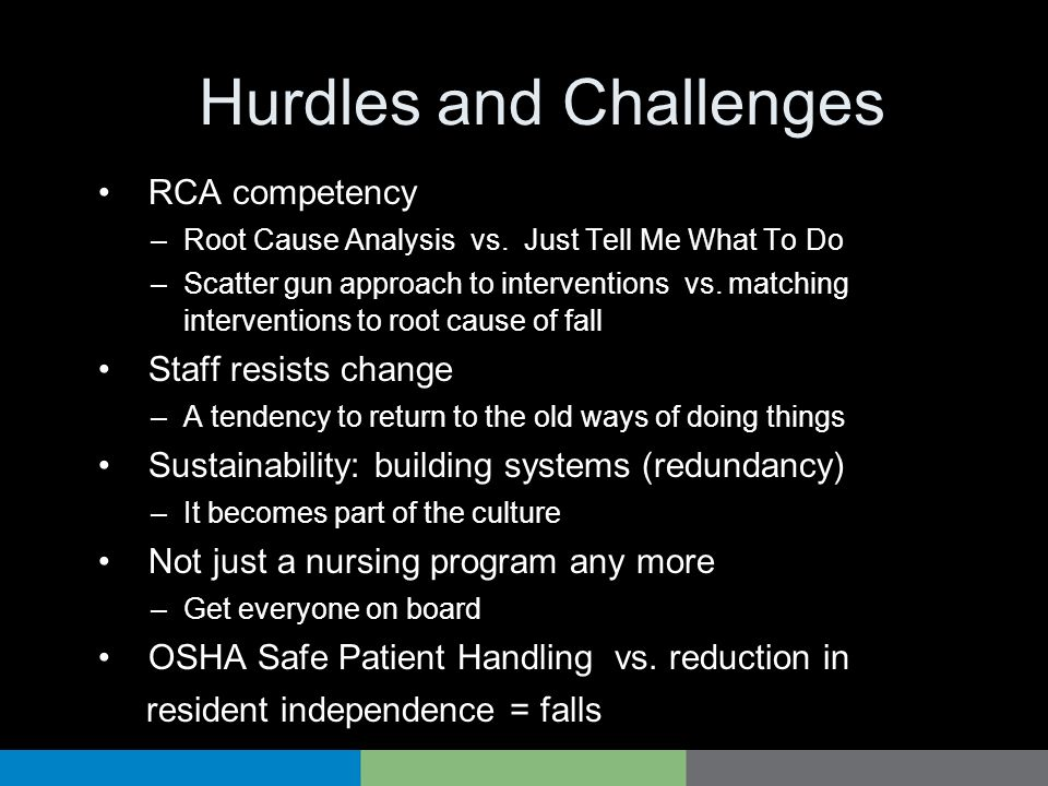 Hurdles and Challenges