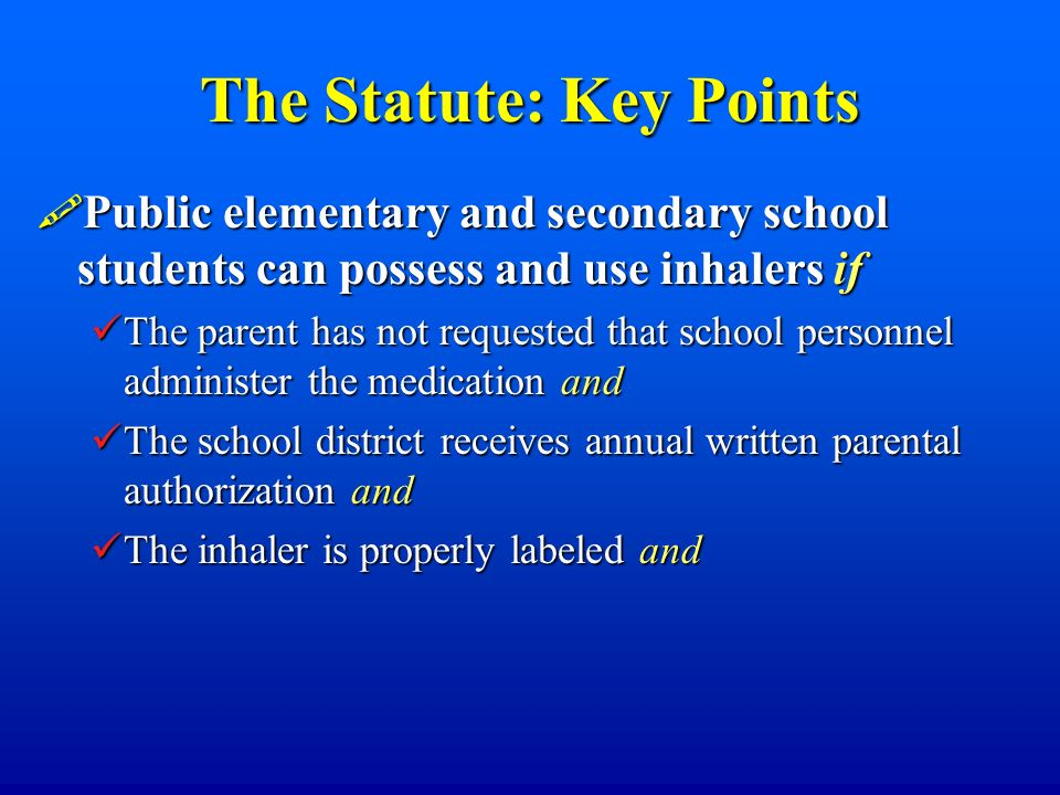 The Statute: Key Points