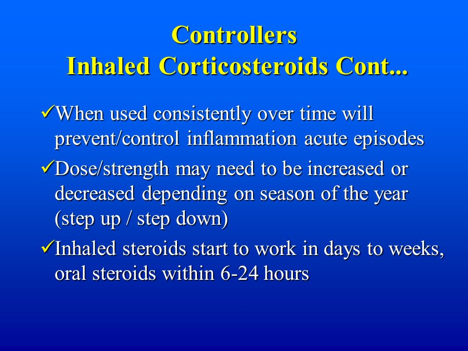 Controllers Inhaled Corticosteroids Cont...