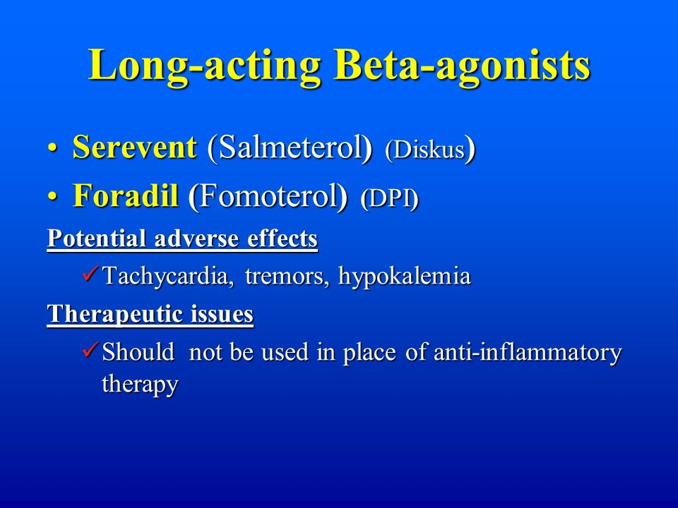 Long-acting Beta-agonists
