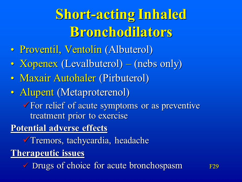 Short-acting Inhaled Bronchodilators