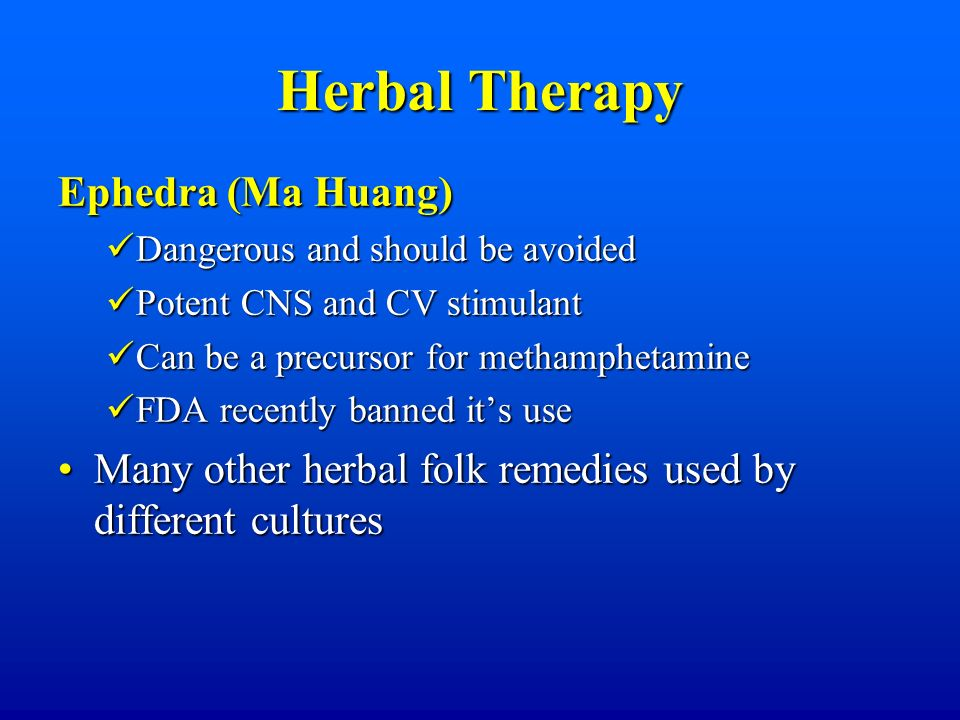 Herbal Therapy Ephedra (Ma Huang)