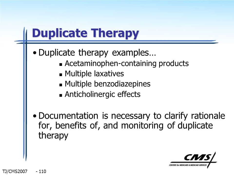 Duplicate Therapy Duplicate therapy examples…