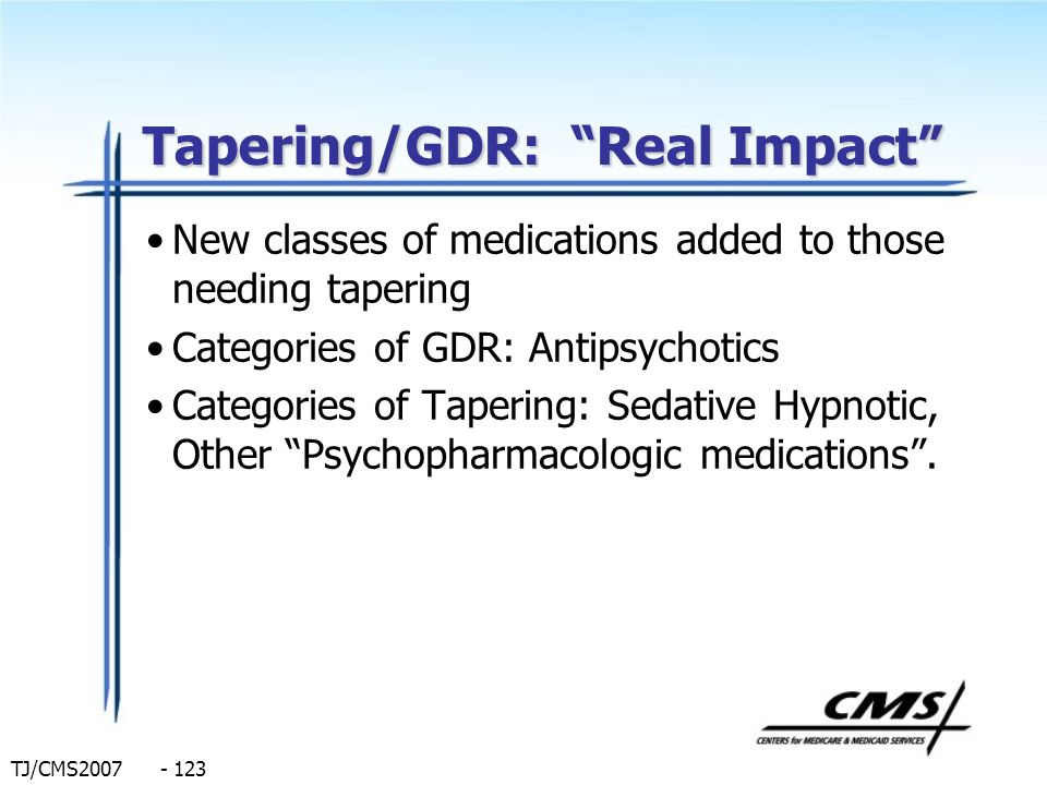 Tapering/GDR: Real Impact