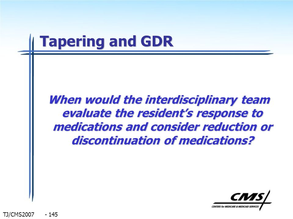 Tapering and GDR